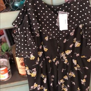 Maurices Dresses - Maurice's XL NWT black floral dress